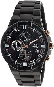 Casio Edifice Chronograph Black Dial Men's Watch - EFR-544BK-1A9VUDF