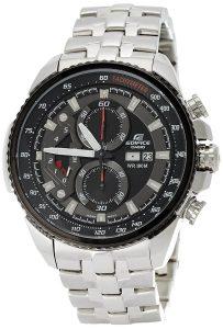 Casio Edifice Tachymeter Chronograph Black Dial Men's Watch - EF-558D-1AVDF