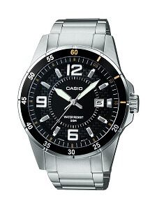 Casio Enticer Analog Black Dial Men's Watch - MTP-1291D-1A2VDF