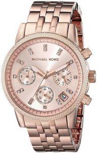 Michael Kors Analog Rose Dial Women's Watch - MK6077