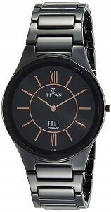 Titan Edge Ceramic Analog Black Dial Men's Watch-1696NC01