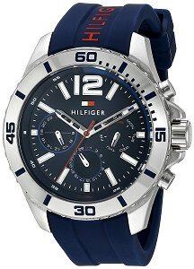 Tommy Hilfiger Men's 1791142 Cool Sport Analog Display Quartz Blue Watch
