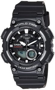 Casio AEQ-110W-1AVDF Youth-Combination Analog-Digital Black Dial Men's Watch