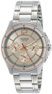 Casio Enticer MTP-1374D-9AVDF Analog Pink Dial Men's Watch