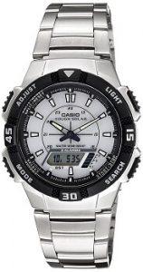 Casio Youth AQ-S800WD-7EVDF Stopwatch Analog-digital White Dial Men's Watch