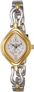 Titan Analog White Dial Women's Watch - 2536BM02
