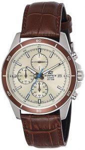 Casio Chronograph EFR-526L-7BVUDF Beige Dial Men's Watch-