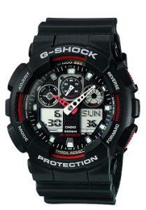 Casio G-Shock GA-100-1A4DR Analog-Digital Black Dial Men's Watch