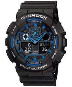 Casio GA-100-1A2DR G-Shock Analog-Digital Blue Dial Men's Watch