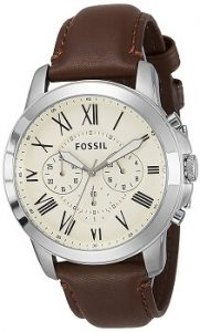 Fossil Grant FS4735 Chronograph Beige Dial Men's Watch