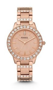Fossil Jesse ES3020 Analog Rose Gold Dial Watch