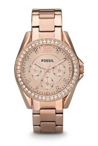 Fossil Riley ES2811 Analog Rose Gold Dial Women's Watch