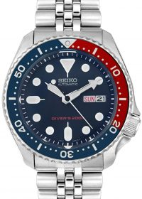 Seiko Men's SKX009K2 Diver's Analog Japanees Quartz Automatic Stainless Steel Watch