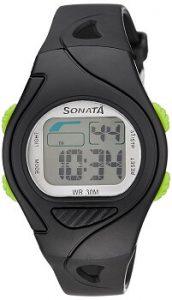Sonata 87011PP01 Super Fibre Digital Grey Dial Men's Watch