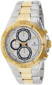 Titan Regalia Chronograph NE9308BM01J Analog Silver Dial Men's Watch