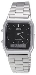 Casio Vintage Series Analog-Digital Black Dial Men's Watch - AQ-230A-1DMQ