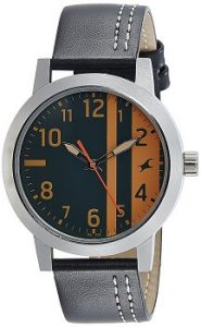 Fastrack 3162SL01 Analog Black and orange Dial Men's Watch