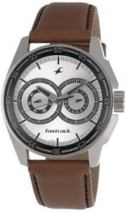 Fastrack NE3089SL07 Black Magic Analog Silver Dial Men's Watch