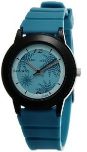 Sonata Fashion NF8992PP01J Fibre Analog Turquoise Dial Women's Watch