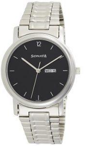 Sonata NC1013SM04 Analog Black Dial Men's Watch