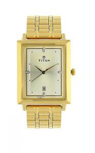 Titan 1715YM02 Analog Gold Dial Men's Watch-