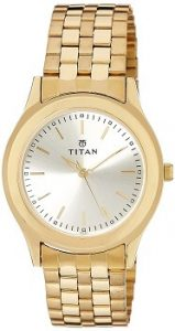 Titan Analog Gold Dial Men's Watch - 1648YM02