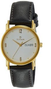 Titan Karishma Analog White Dial Men's Watch - NE1445YL04