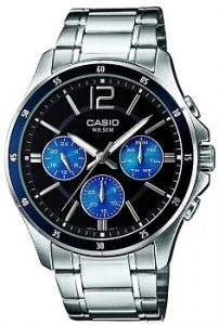 Casio Enticer Analog MTP-1374D-2AVDF Black Dial Men's Watch