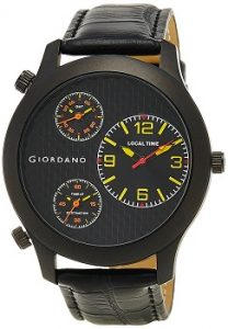 Giordano Chronograph Multi-Colored Dial Men's Watch - 60068 Black & Yellow
