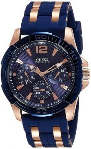 Guess Analog Blue Dial Men's Watch - W0366G4