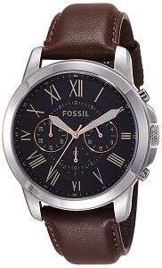 Fossil Grant Chronograph Black Dial Men's Watch - FS4813I