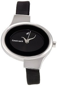 Fastrack Economy Analog Black Dial Women's Watch -NK6015SL02