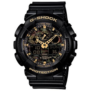 G-Shock World time Analog-Digital Multi-Colour Dial Men's Watch - GA-100CF-1A9DR