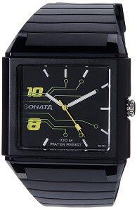 Sonata Ocean Analog Black Dial Men's Watch -NK7988PP01