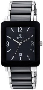 Titan Ceramic Analog Black Dial Men's Watch -NK90013SD02