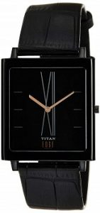 Titan Edge Analog Black Dial Men's Watch - NE1599NL01