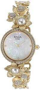 Titan Raga Aurora Analog White Dial Women's Watch - 95043YM01