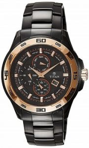 Titan Regalia Analog Black Dial Men's Watch -NK90008KM02