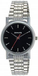 Sonata Analog Black Dial Men's Watch-NJ7987SM04W