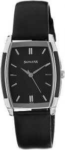 Sonata Analog Black Dial Men's Watch -NK7080SL02