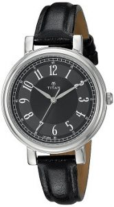 Titan Analog Black Dial Women's Watch -NK2554SL02