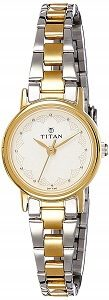 Titan Analog White Dial Women's Watch -917BM01