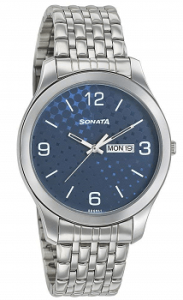 Sonata Analog Silver Dial Men's Watch-77063SM06