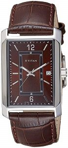 Titan Analog Brown Dial Men's Watch-NK1697SL02