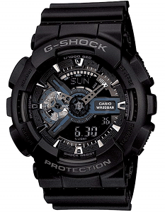 Casio G-Shock Analog-Digital Black Dial Men's Watch - GA-110-1BDR